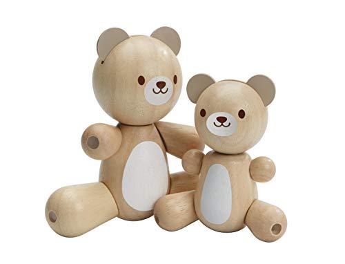 Plan Toys - Maman et Bébé Ours articulés - Bois,Autres matières - PT5264