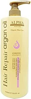 Moroccan Argan Oil Original Hydrating Hair Repair Shampoo Organic Hair Care By Alpha New York 33.8 FL.OZ