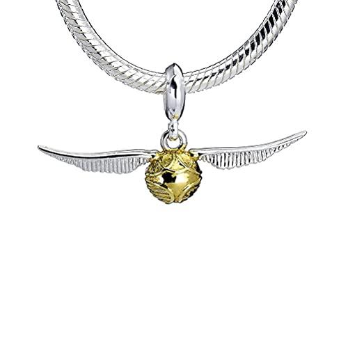 The Carat Shop Harry Potter Sterling Silver Snitch Slider Charm