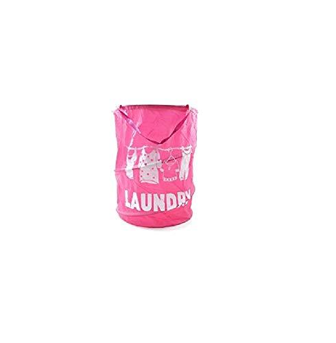 takestop - Portaropa Plegable Rosa de 35 x 50 cm, de Tela launday, Bolsa Porta Todo Ropa, paños sucios, Objetos de baño