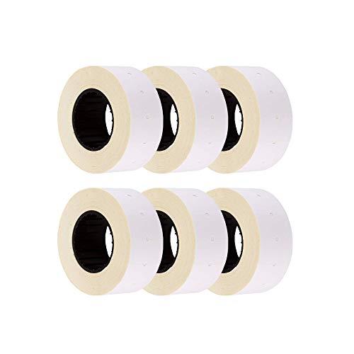 Lot de 6 rouleaux de ruban adhésif blanc pour étiqueteuse MX-5500 21 x 12 mm