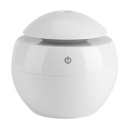 Difusor de Aromas Electrico Ultrasonico Humidificador Aceites, 130ml Humidificador Aromaterapia Ultrasónico, Difusor de Aceites Esenciales, Purificador de Aire, LED(Blanco)