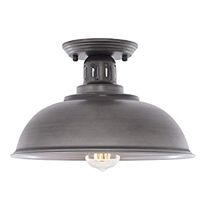 HMVPL Farmhouse Close to Ceiling Light Fixtures, Vintage Semi Flush Mounted Lighting Industrial Ceiling Lamp for Kitchen Island Table Dining Room Foyer Hallway Entry Front Door