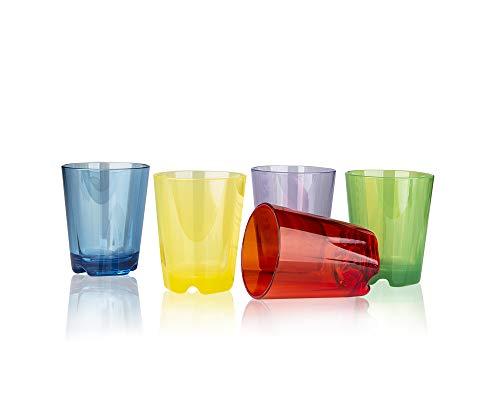 Brunner GW-1001-T-SET-02 Gobelet multifonction en plastique sans BPA incassable 0,2 l