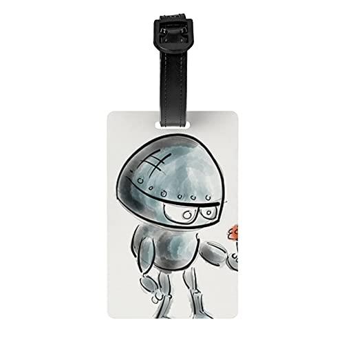 Etiqueta del equipaje del robot protección de la privacidad etiqueta del bolso de viaje etiqueta de la maleta