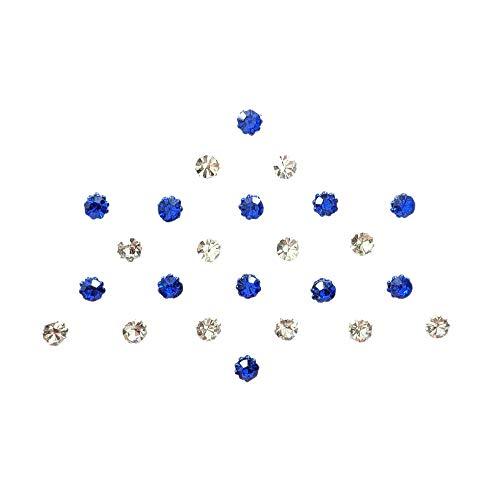 Comet Busters Diamond Collection Small Stone Blue Silver Bindi (BIN132)