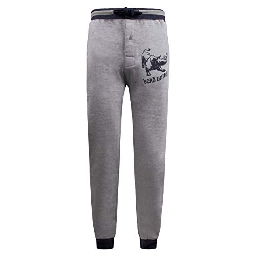 Ecko Unltd. Men's Cotton Fleece Jogger | Moisture Wicking Pajama Pant| 60% Cotton / 40% Polyester (Grey, X-Large)