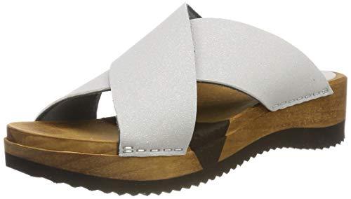 Sanita Damen Tanja Sport Flex Sandal Pantoletten, Silber (Ash 73), 39 EU