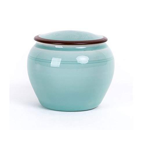 XinQing Tanque de Almacenamiento de Alimentos Celadon del Carrito de té, Sellado ya Prueba de Humedad, Conveniente for el hogar, Viajes al Aire Libre, Oficina, 280ml
