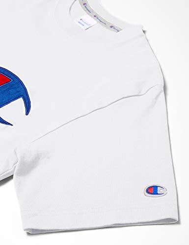 [チャンピオン]Tシャツ半袖綿100%定番ビッグCロゴアップリケジョックタグ付きショートスリーブTシャツC3-R304メンズホワイトL