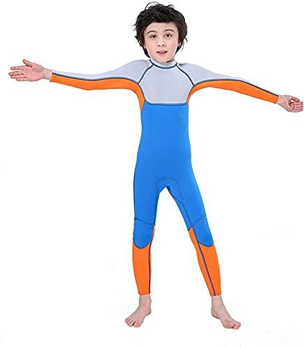 Niño Traje de Neopreno, Traje de Buceo de Ultra Estiramiento, Traje de baño de 2.5 mm de baño de Neopreno, para Pesca Snorkeling Surking Surfing Buceo Mojo Trajes (Size : XL)