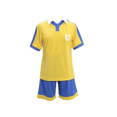 Gosbeliy Anime Inazuma Eleven Raimon School Golden Football Jersey Cosplay disfraz para mujeres y hombres conjunto completo