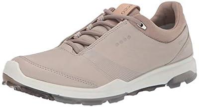 ECCO womens Biom Hybrid 3 Gore-tex Golf Shoe, Gravel Yak Leather, 8-8.5 US