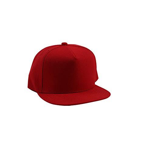 sdssup Lässige Mode Erwachsene Hut einfarbig einfarbig Baumwolle rot 1