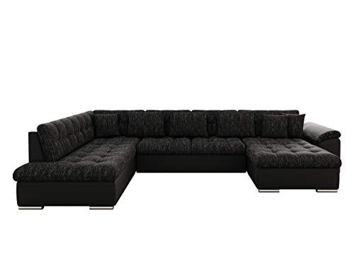 Mirjan24 Eckcouch Ecksofa Niko! Design Sofa Couch! mit Schlaffunktion! U-Sofa Große Farbauswahl! Wohnlandschaft! (Ecksofa Rechts, Soft 011 + Lawa 06)