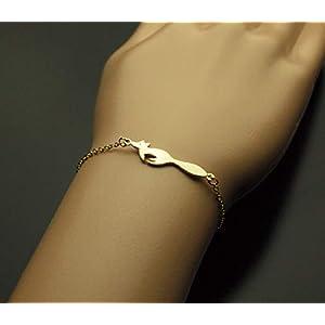 Armreifen Fuchs Armband Armkette golden Juvelato