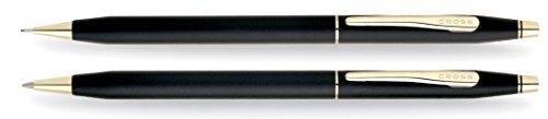 Cross Classic Century Classic Black Ballpoint Pen & 0.7mm Pencil with 23KT Gold-Plated Appointments