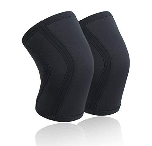 Vintree 2X Rodillera de Neopreno de 5 mm Shield Par de Rodilleras de Neopreno para Halterofilia Powerlifting Weightlifting Lunges y Cualquier Deporte Funcional Rodillera Deportiva Neopreno (L)