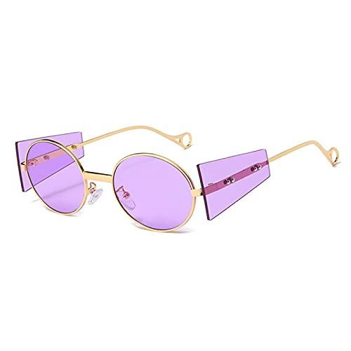 Astemdhj Sonnenbrillen Herren Gradient Sonnenbrille Sunglasses Neue Vintage Steampunk Sonnenbrille Männer Designer Runde Punk Sonnenbrille Frauen Metall Steam Punk Hip Hop Brille Männlich U