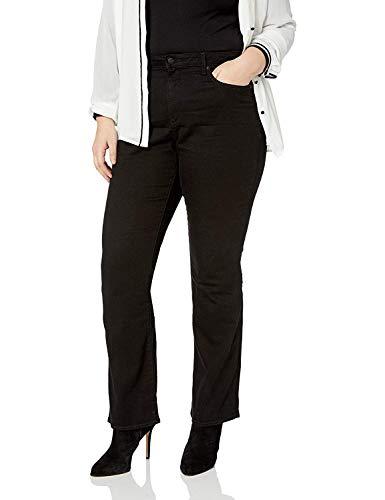 NYDJ Women's Plus SizeBarbaraBootcutJeans | Flare & Slimming Fit Pants, Black, 14W