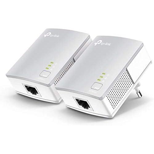 TP-Link TL-PA4010 Kit Powerline, AV600 Mbps su Powerline, 1 Porta Ethernet, HomePlug AV, Solamente per connessioni a filo, Soluzione per dispositivi cablati come PC, decoder Sky, PS4