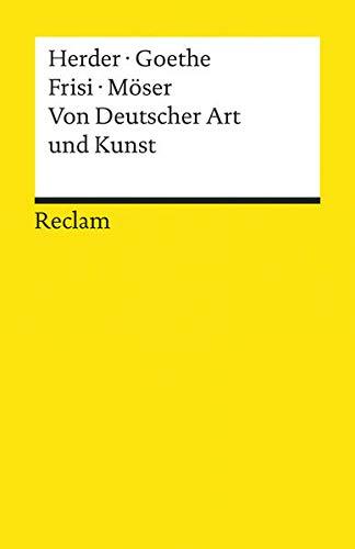Von Deutscher Art und Kunst: Einige fliegende Blätter (Reclams Universal-Bibliothek)