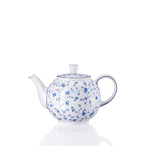 Arzberg Form 1382 Blaublüten Teekanne 6 P, Porzellan, White/Blue, 17.8 x 17.8 x 16.5 cm