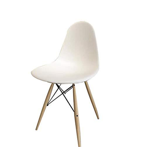 Laomao stoel van kunststof, eenvoudig, poten van kunststof + zuiver massief hout, grootte: 44 x 51 x 85 cm (kleur: zwart, wit, rood)