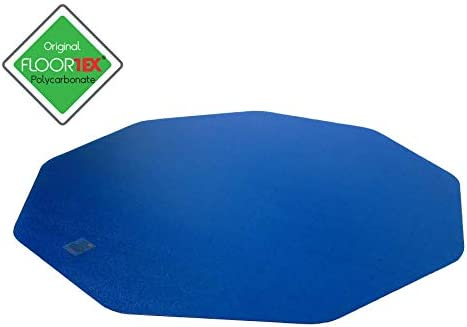 Floortex Gaming E Sports Floor Mat in Blue Polycarbonate for Hard Floor Protection 38 x 39 FC121001009RBL product image