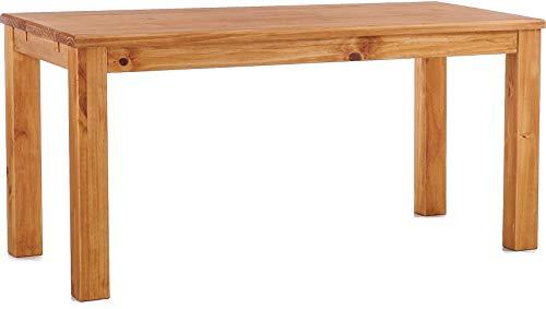 Esstisch Rio Classico 150x73 cm Honig Massivholz Pinie Holz Esszimmertisch Echtholz Größe und Farbe wählbar ausziehbar vorgerichtet für Ansteckplatten Brasilmöbel