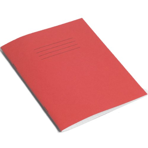 Rhino - Quaderno per esercizi a quadretti da 10 mm, 48 pagine, confezione da 10, Rosso