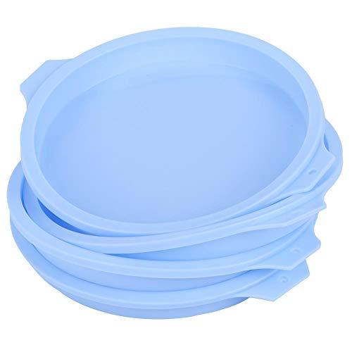 Bandeja redonda para tartas, bandeja para tartas para hornear, molde para tartas para tartas coloridas en casa para uso en la(Blue 4 pack 83065-C)