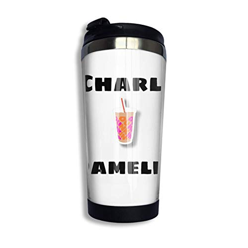 Hdadwy Taza de viaje personalizada Charli Damelio, vaso de café con revestimiento de acero inoxidable, vaso de viaje con aislamiento al vacío de doble pared para Navidad, cumpleaños, oficina en casa