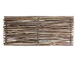 Weidenprofi Sichtschutz, Haselnusszaun Modell Universal mit Seitenrahmen, Flechtzaun aus Hasel, Größe (BxH): 180 x 180 cm