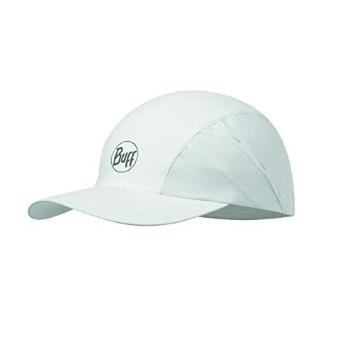 Buff R-Solid Gorra Pro Run, Unisex Adulto, White, Talla única