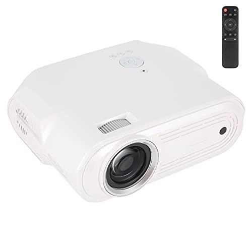Gaeirt Proyector de Cine en Casa, LCD de Flujo de 6000 LED Proyector de Vídeo de 1280 X 720 ± 15 · Mini Proyector de Película de Vídeo con Corrección Trapezoidal Manual Altavoces Integrados(EU)