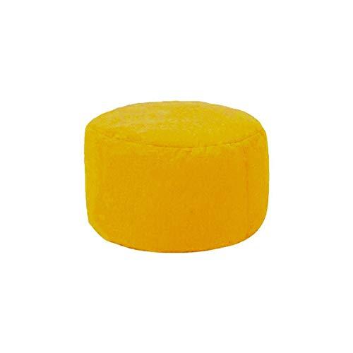 Kleine runde Sitzsack Sofa-Abdeckung Ohne Padded Flanell Polster Fußbank Stuhl-Kissen Sofa Tatami Wohnzimmer (Color : Yellow)