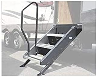 MORryde Black Standard Mor/RYDE International STP214-007H Hand Rail for Fold Up Step