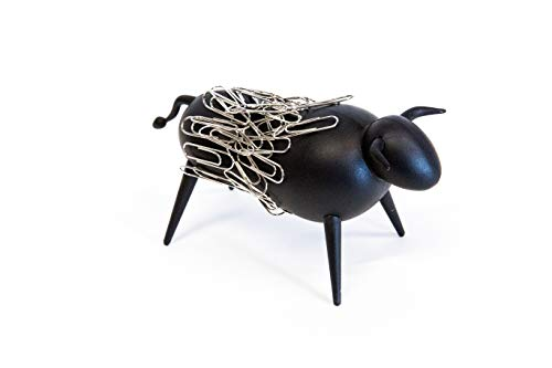 Magnetic Bull Paperclip Holder - Funny Office Desk Accessories, Secure Magnetic Paper Clip Holder, Holds Staples, Paper Clips, Bobby Pins, and More, Fun Magnetic Desk Organizer