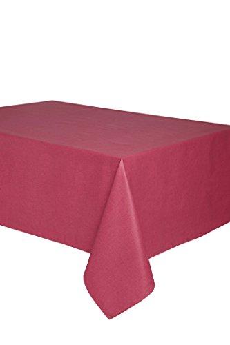 Mantel antimanchas Olimpia 50% algodón 50% poliéster con, resinado y con Teflón de Dupont® - 100x150 - Liso granate