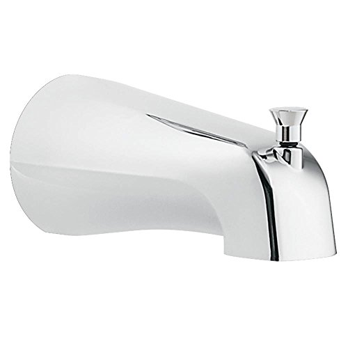 Moen 3800 Tub Spout with Diverter, Threaded IPS Connection, Chrome (Ips Diverter)