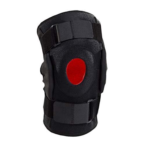 Abaodam Rodilleras ajustables de apoyo para la rodilla, práctica rodillera de voleibol para adultos, deportes, ciclismo, color negro, talla L