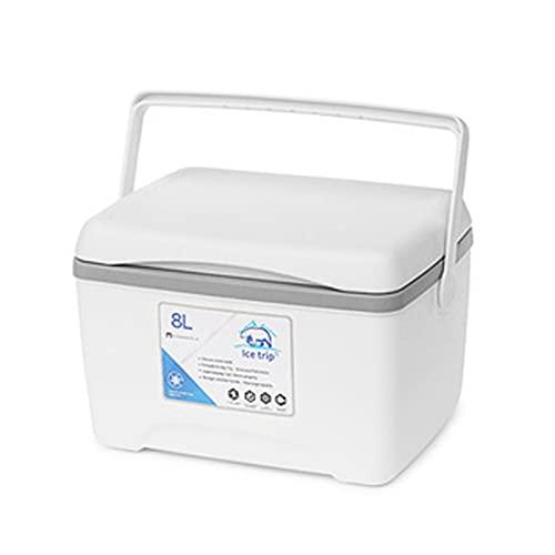 Gusengo 8L Kühlbox Isolierte Thermobox - Tragbare Lunch Picknickbox Outdoor Isolierbox Warmhaltebox Mit Griff Für Camping/Grillen/Familien Outdoor-Aktivitäten
