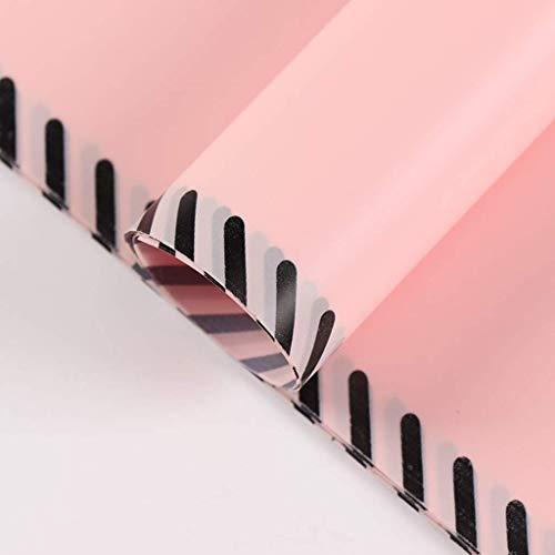 ZXL Warning Line Patroon Inpakpapier, Effen kleur Boeket Inpakpapier Drank Bewaar Decoratie Materiaal Papier 20 Vellen (Kleur : D, Maat : 60 * 60CM)