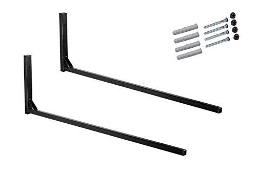 AZZAP Dachboxhalter 82cm mit Zubehör Dachboxträger Wandhalterung Dachboxenhalterung WSB
