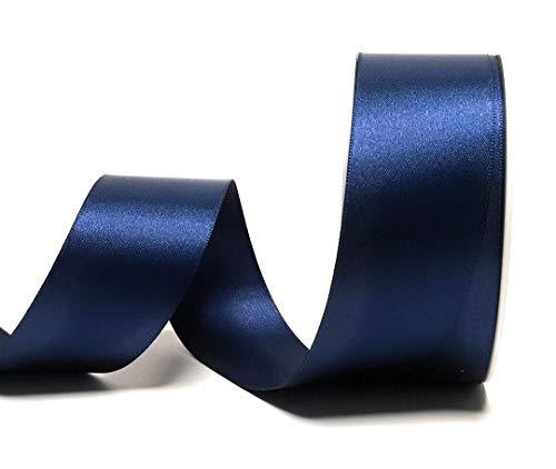 Konrad Arnold Satinband 25m x 40mm dunkelblau Dekoband Geschenkband Schleifenband