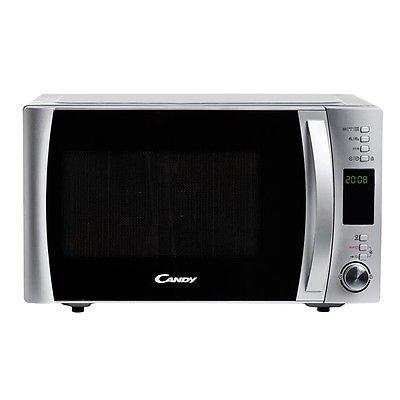 Candy CMXG 30DS Microondas con grill y cook in app, Capacidad 30L, 40 Programas Automáticos, Plato giratorio 31,5cm, 900 W, 30 litros, Acier INOX