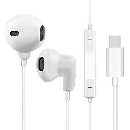 Yeebline - Auriculares USB Tipo C con Mando a Distancia y micrófono Integrado Compatible con Huawei P20 Pro, Huawei Mate 10 Pro, Moto Z Play y más Dispositivos de Interfaz Tipo C