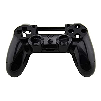 OSTENT Replacement Housing Shell Case Part Kit Compatible for Sony PS4 Wireless Controller - Color Black