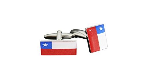 Flaggenfritze® Manschettenknöpfe Fahne / Flagge Chile